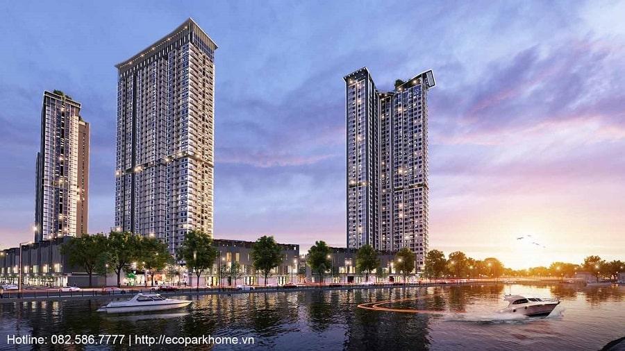 Phối cảnh tòa tháp S3 chung cư cao cấp Sky Oasis