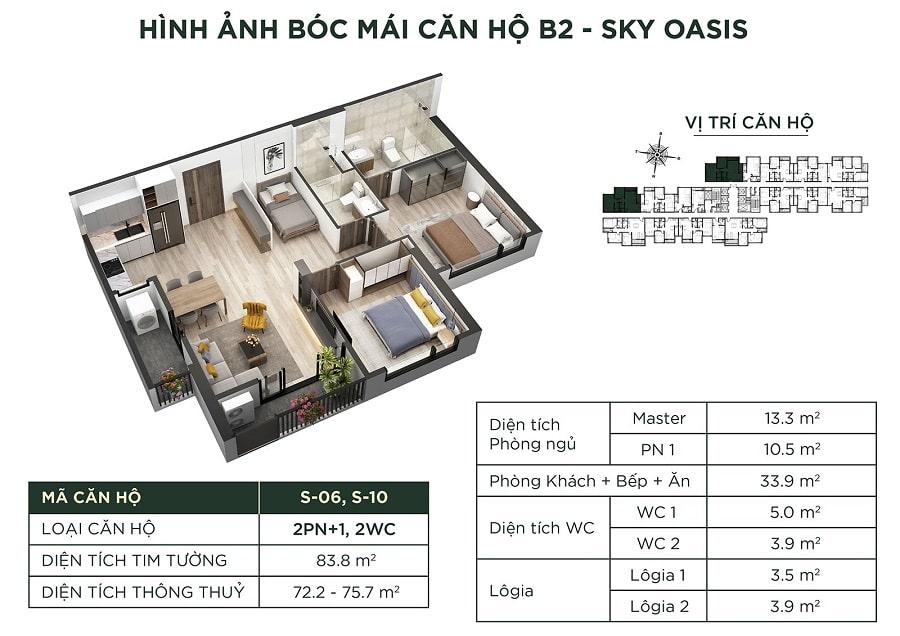 Giá căn B2 - Sky Oasis
