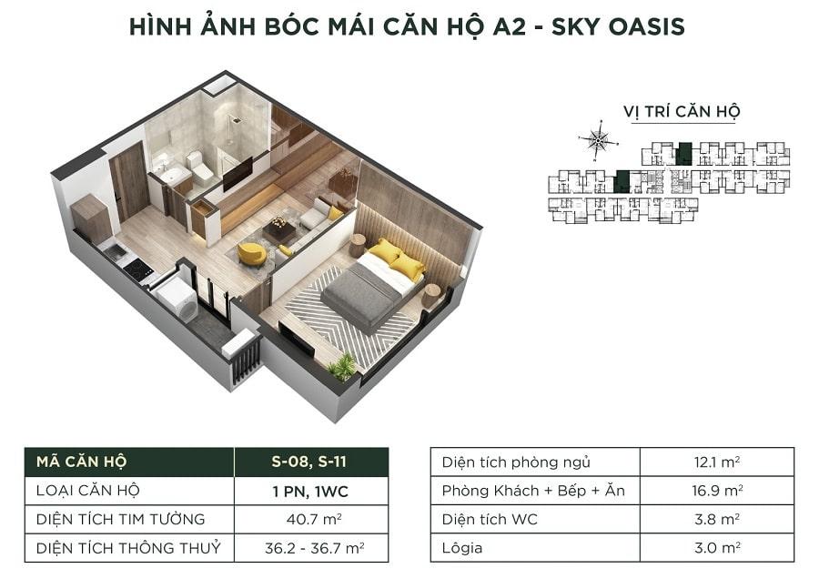 Giá căn A2 - Sky Oasis