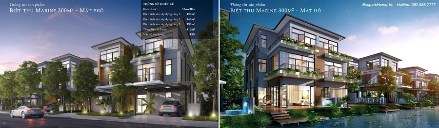 Biệt thự Marine – đảo Sapphire và Emerald