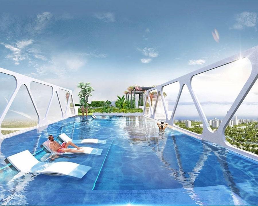 Tận hưởng không gian như Resort với bể bơi chân mây