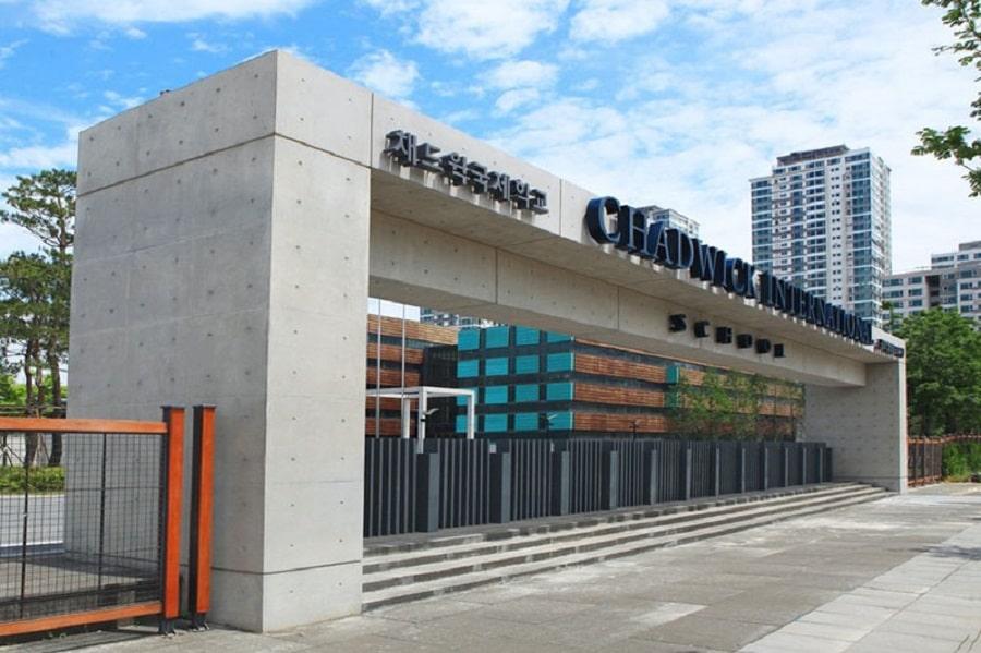 Trường Chadwick tại Songdo hiện là trường quốc tế hàng đầu tại Hàn Quốc.