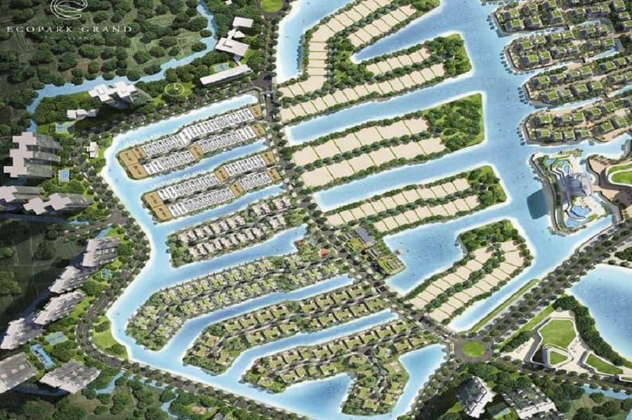 Chadwick Hà Nội sẽ nằm trong Khu đô thị Ecopark, liền kề khu biệt thự đảo Ecopark Grand – The Island.