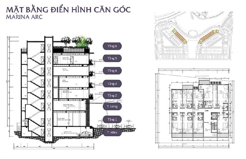 Thiết kế căn góc Marina ARC