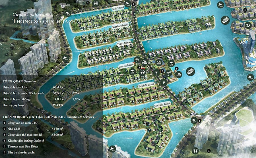 Mặt bằng thiết kế biệt thự đảo Ecopark