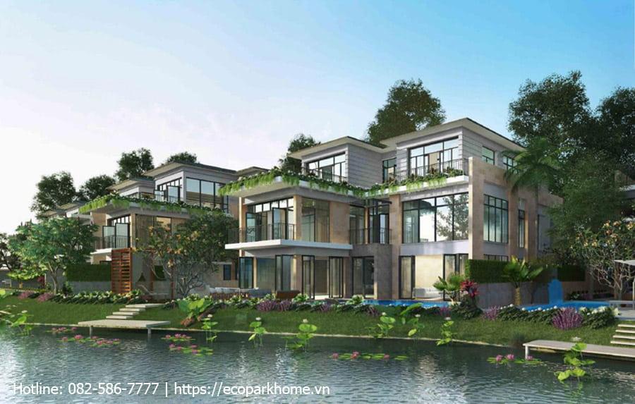 Biệt thự đảo Scarlet Ecopark600 m2 (20-22 x 30 m) mặt view sông