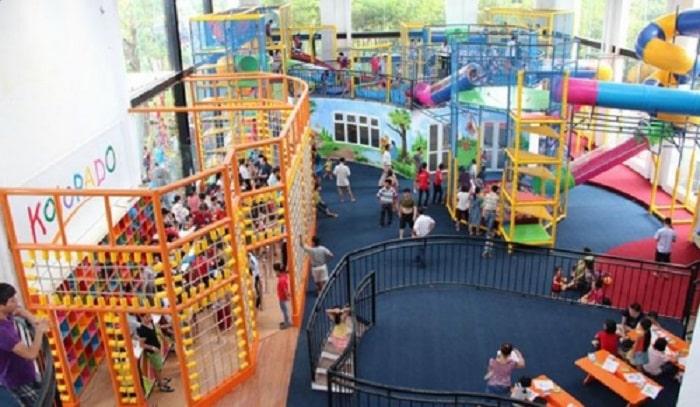 Nhiều khu vui chơi được thiết kế dành riêng cho trẻ em