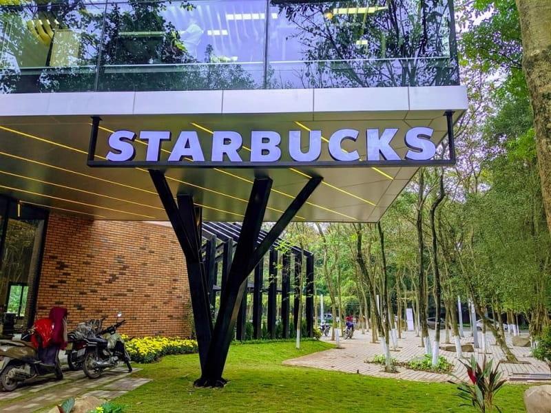 Quán cafe Starbucks Ecopark