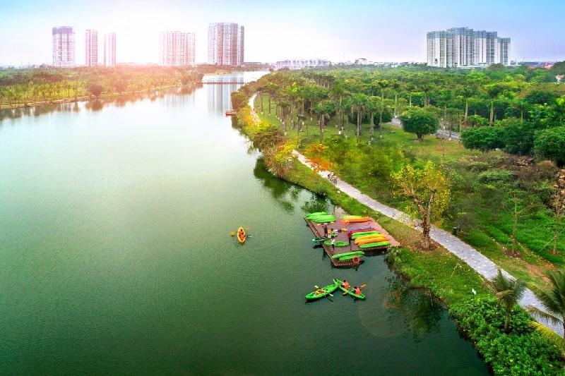 Chèo thuyền Kayak ở công viên Hồ Thiên Nga