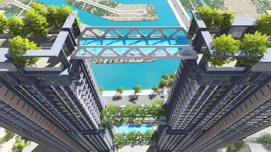 Bể bơi chân mây Sky Oasis Ecopark