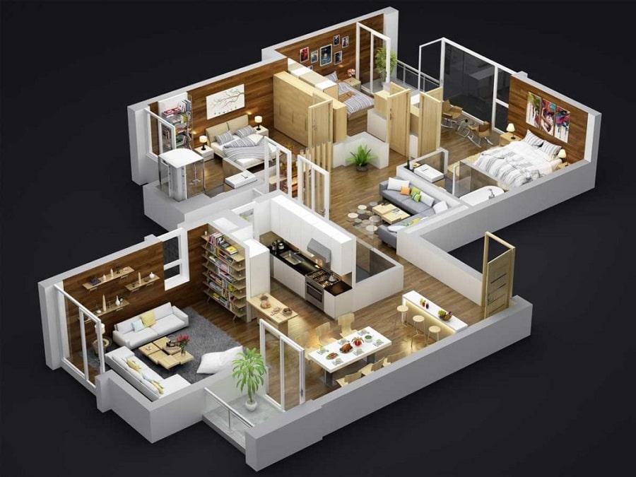Thiết kế căn hộ Skyvilla