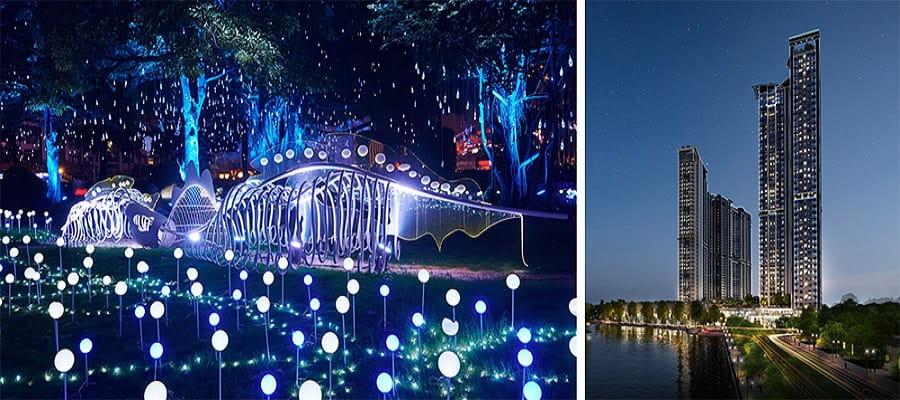 Công viên ánh sáng dài 2,5 km đầu tiên tại Hà Nội