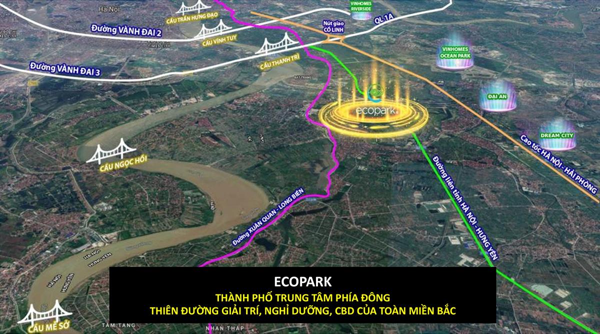 Ecopark khu đô thị trung tâm phía đông Hà Nội