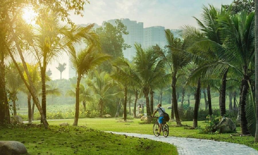 Nằm trong không gian sống xanh của Ecopark