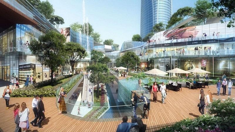 Khu phố mua sắm tại phố đi bộ Hàn Quốc Ecopark