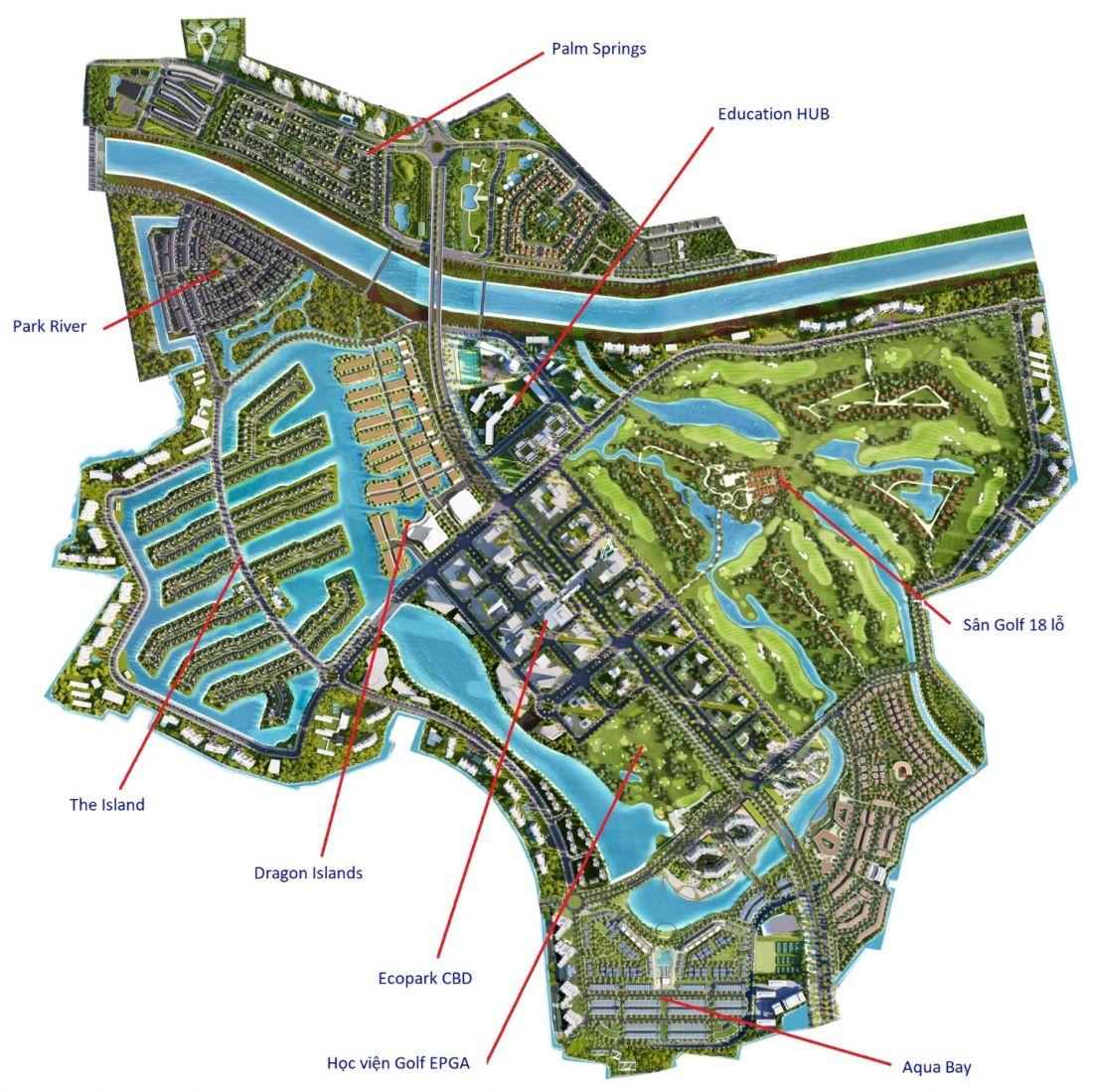 Sơ đồ quy hoạch khu đô thị Ecopark