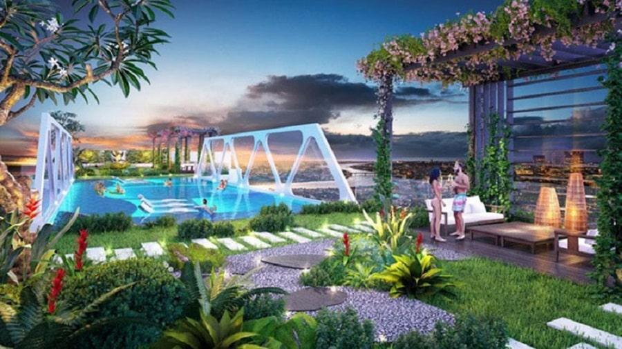 Thiết kế đẳng cấp với vườn nhiệt đới và Hồ bơi chân mây