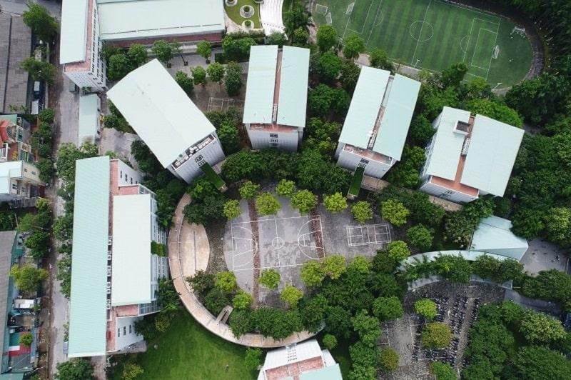 Trường học Đoàn Thị Điểm sở hữu không gian xanh với diện tích rộng