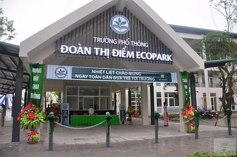 Trường Đoàn Thị Điểm Ecopark có chương trình học tập phù hợp