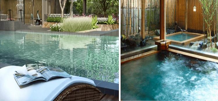 Bể bơi điện phân muối tòa S-Premium Sky Oasis