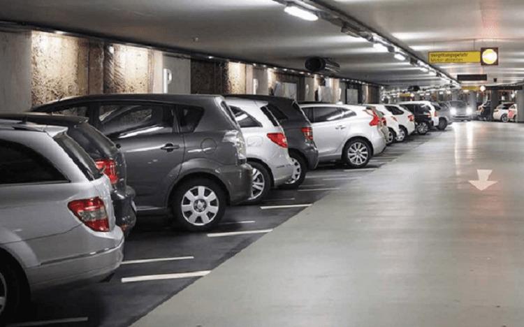 Gửi xe dưới tầng hầm gửi xe của khu chung cư