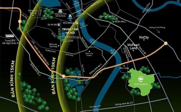Đường đi tới Ecopark