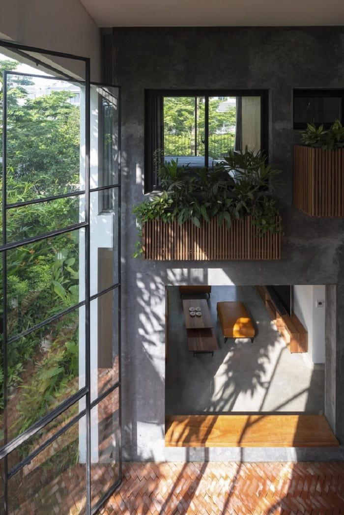 Xây xanh được trồng ngay trong không gian nhà