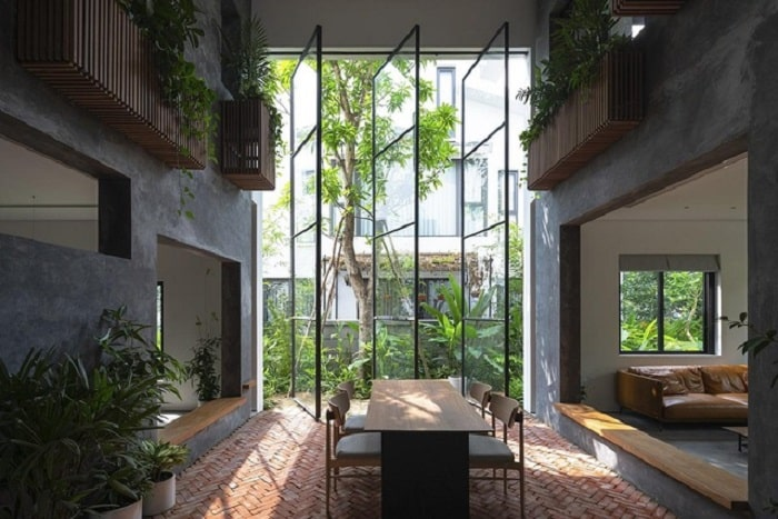 Toàn bộ không gian căn hộ đều được thiết kế nhìn ra khu trung tâm