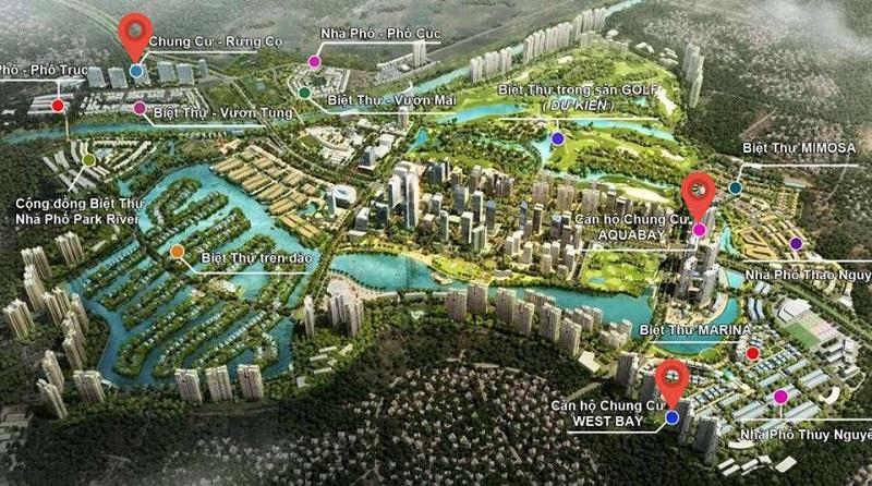 Vị trí chung cư ở dự án Ecopark
