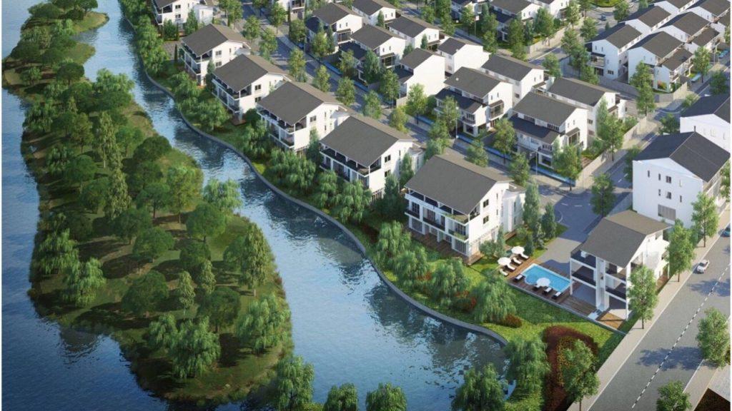 Biệt thự Ecoriver ven hồ