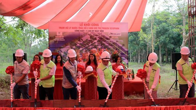 Lễ khởi công trạm xử lý nước thải số 2 KĐT Ecopark