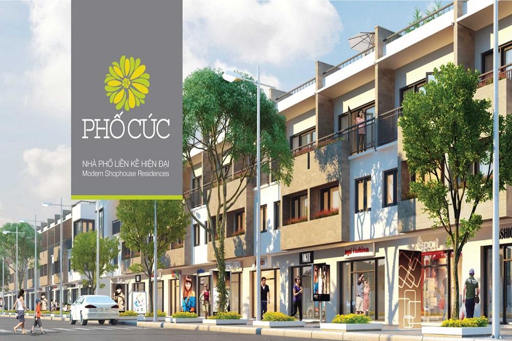 Nhà phố liền kề hiện đại - Phố Cúc Ecopark