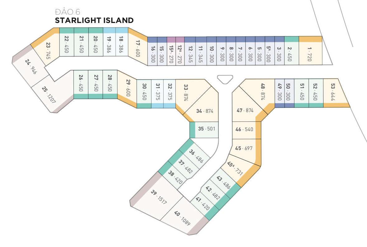 Mặt bằng thiết kế biệt thự đảo Starlight