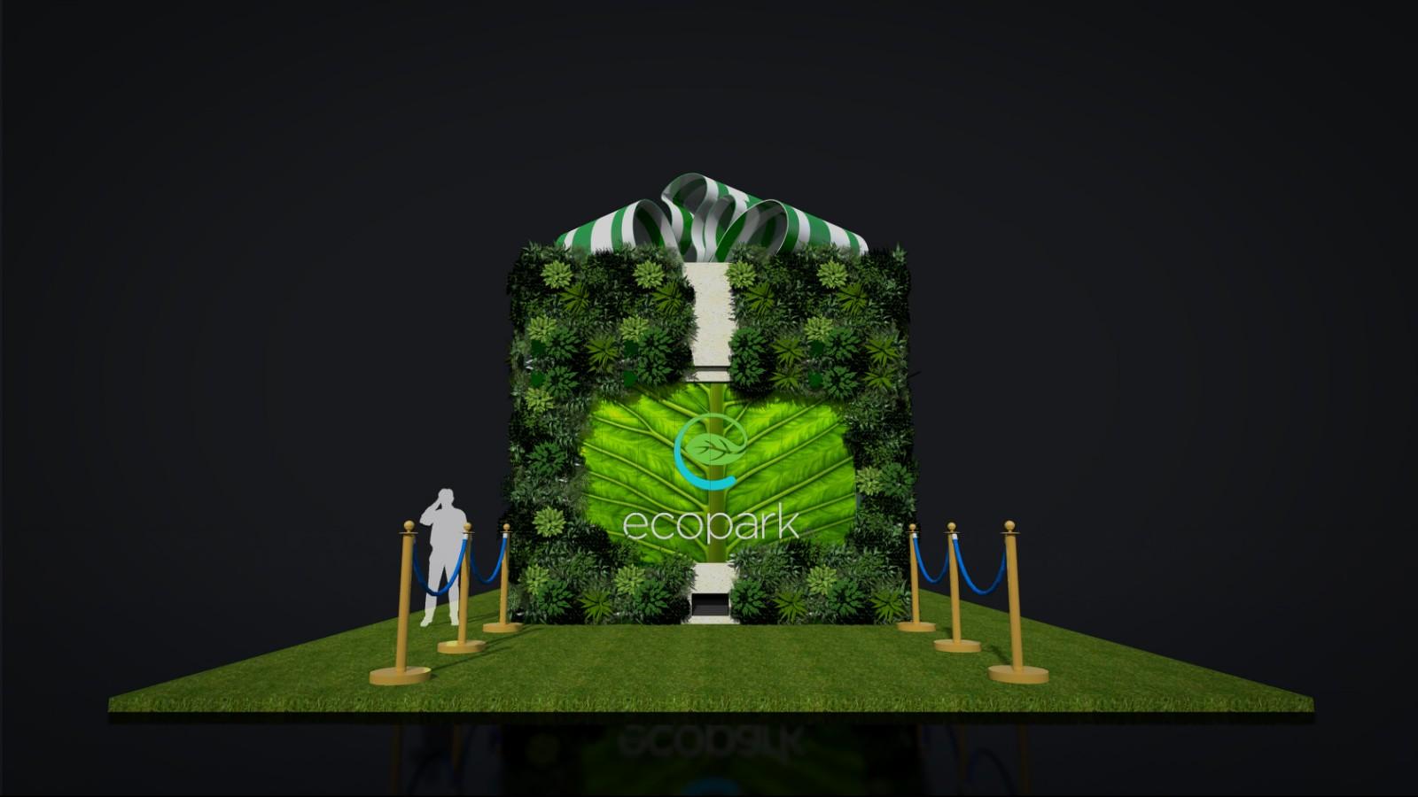 Hộp quà may mắn, Chạm tay là có quà tại Ecopark