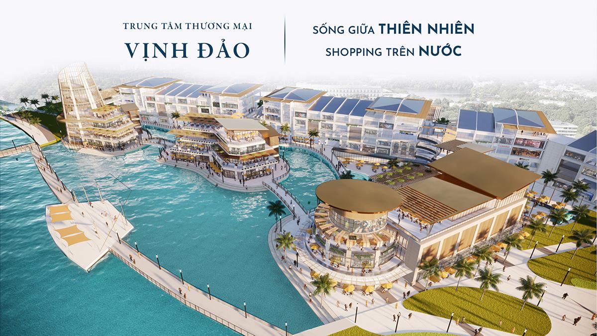 Trung tâm mua sắm trên mặt nước tại Ecopark